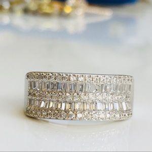 Jewelry - 14k white gold engagement wedding ring band